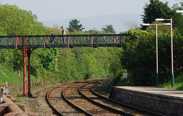 Footbridge over the mainline, Ravenglass