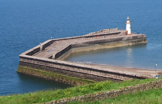 The western arm of Whitehaven Harbour