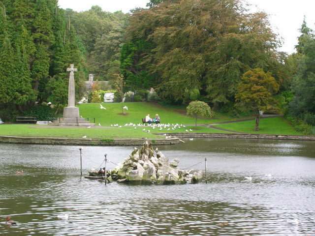 Pond in the park, Grange-over-Sands