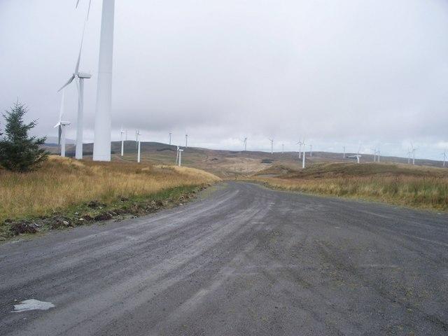 Entrance to Cefn Croes Wind Farm
