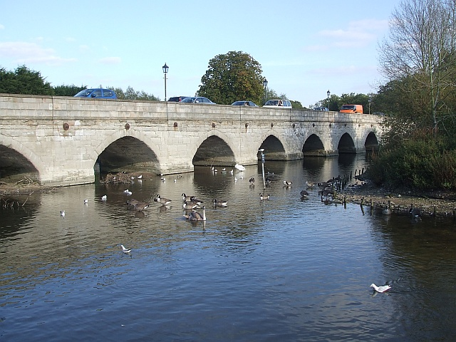 Clopton Bridge from Cox's Yard
