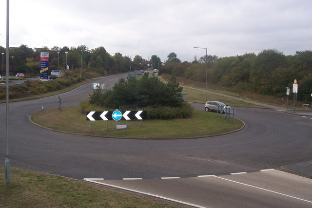 Roundabout on the A2990 Thanet Way