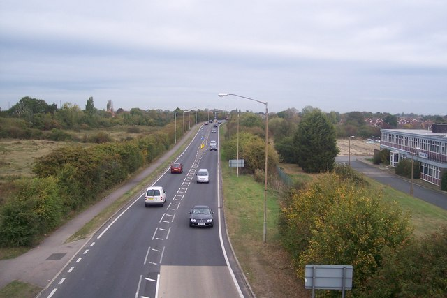 A2990 Thanet Way heading towards Herne Bay
