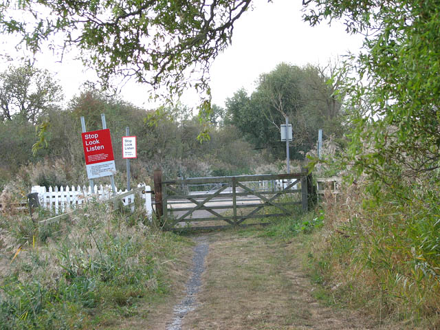 Level crossing in the Limpenhoe Marshes