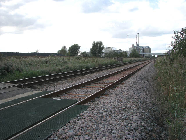 View north-west along the railway line