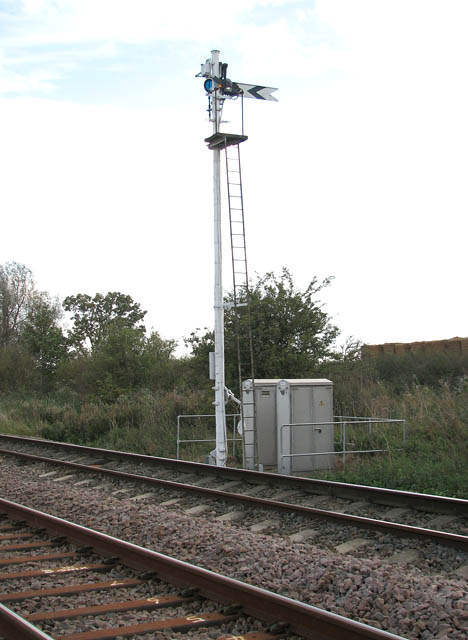 Signal post and relay boxes