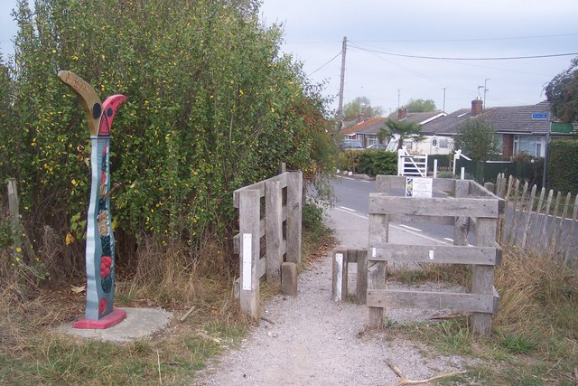 Crab and Winkle Way reaches South Street, Whitstable