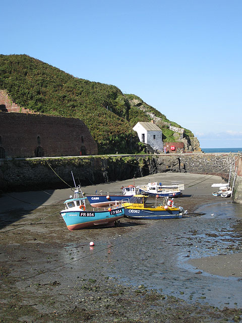Low tide at Porthgain harbour