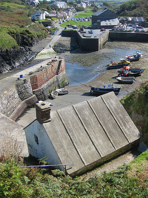 Behind the harbour pilot's office, Porthgain