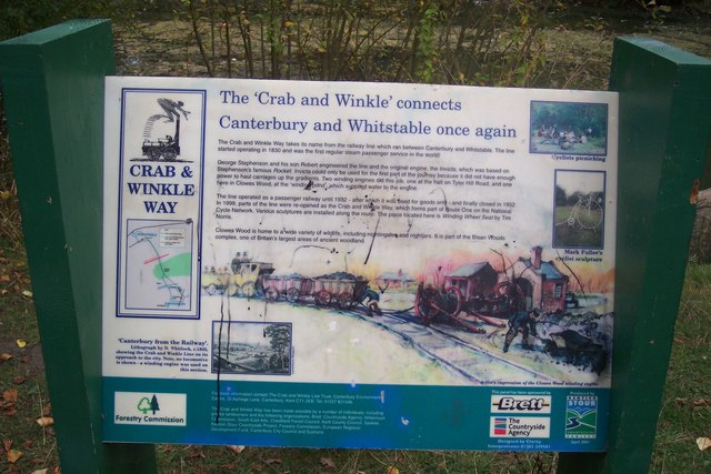 Crab and Winkle Path Sign in Clowes Wood