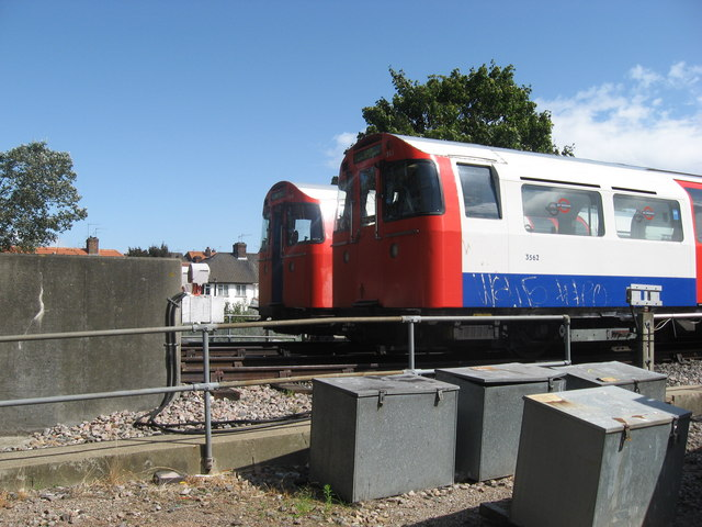 Tube trains in depot