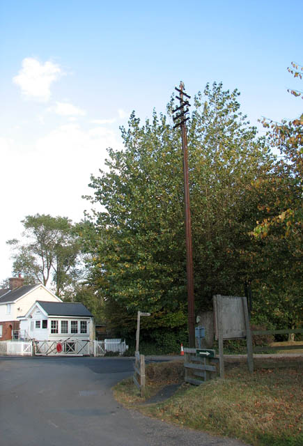 Old telegraph pole by Station Road