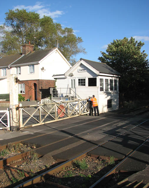 Cantley station - manually operated crossing gates