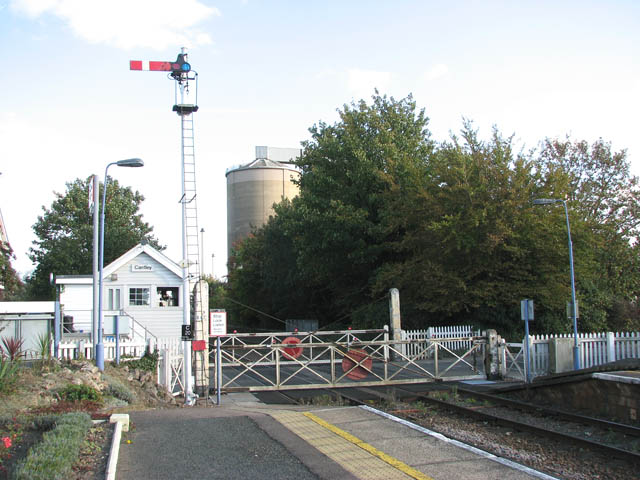 Cantley station - view towards the signal box