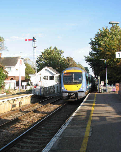 Train arriving at Cantley station