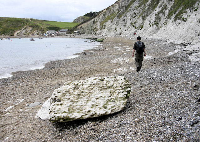 Chalk Block, Lulworth Beach