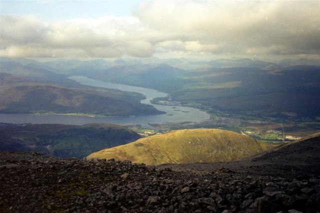 Looking NW from the path up Ben Nevis, from about 1200m