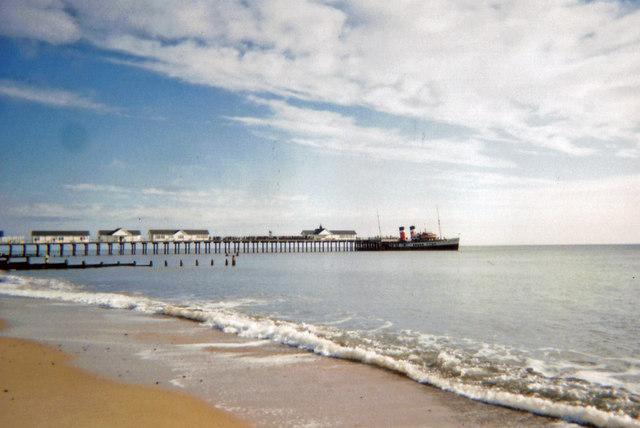 P.S Waverley at Southwold Pier