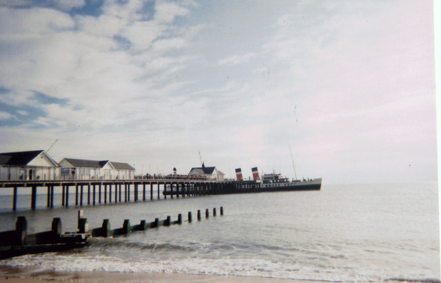 P.S Waverley at Southwold Pier