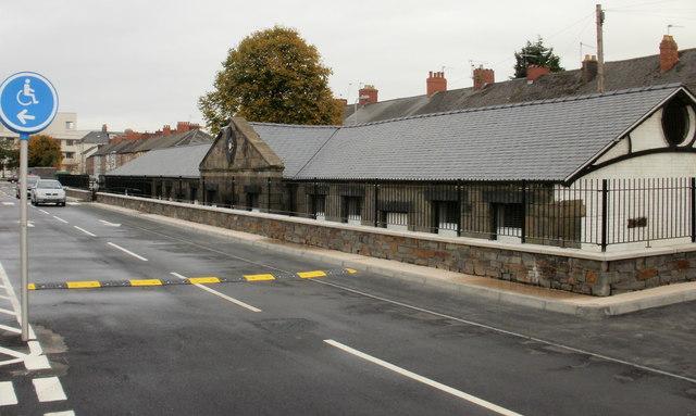 Restored cattle market building, Newport