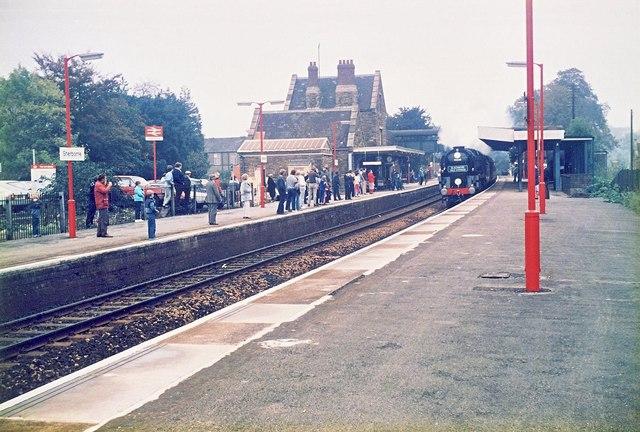Steam train at Sherborne