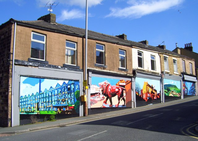 Shops in Railway Street, Brierfield