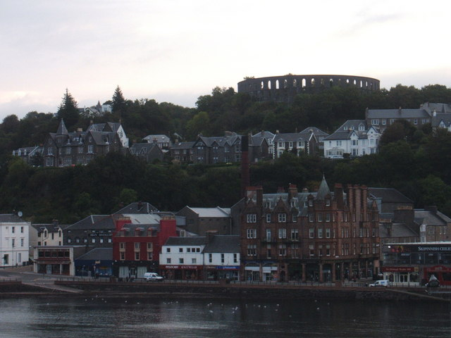Oban waterfront from departing ferry