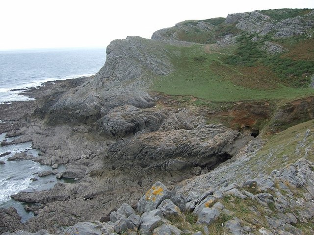Gower Coastline, Near Overton Cliff