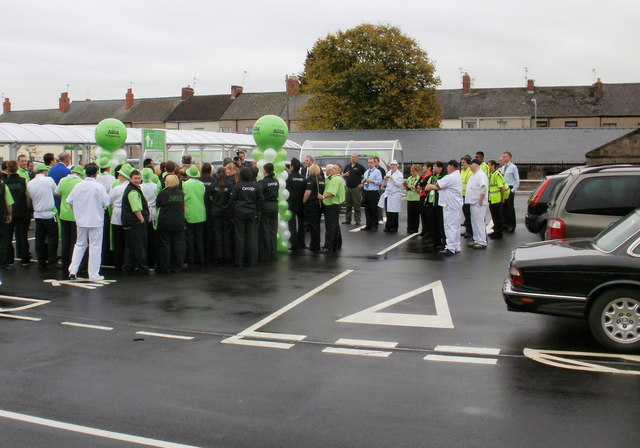 Official opening ceremony, Asda, Pill, Newport