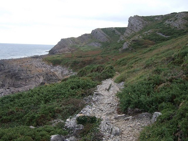 Lower Coastal Path, Overton Cliff