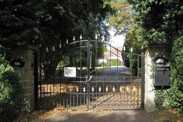 Gates to Longbridge Manor, Warwick