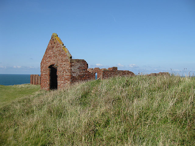 Abandoned works on the clifftop