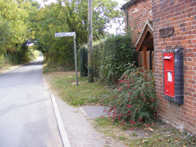 Reepham Road &  Themelthorpe Road  Victorian Postbox