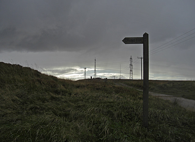 Finger post on Crompton Moor