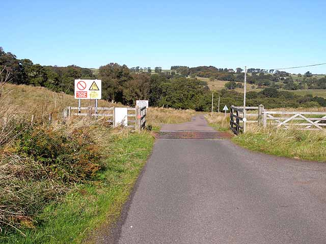 Entrance to the ranges at Billsmoorfoot