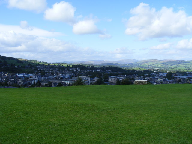 View from Kendal Castle toward Kendal