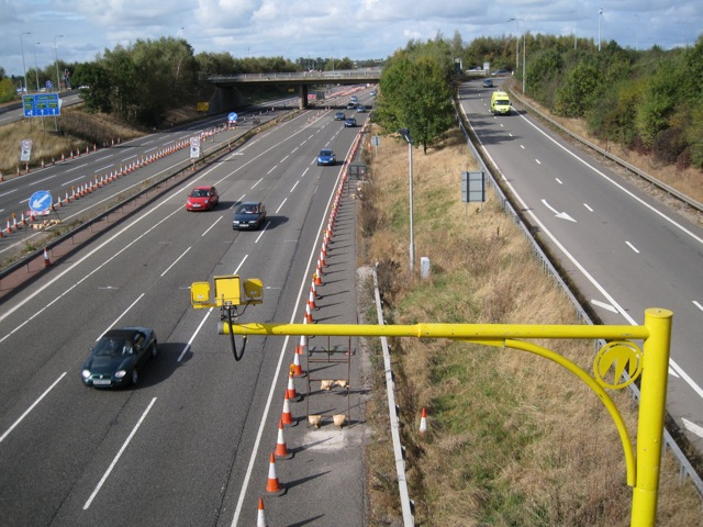 Cars, cameras and cones: M40 junction 15