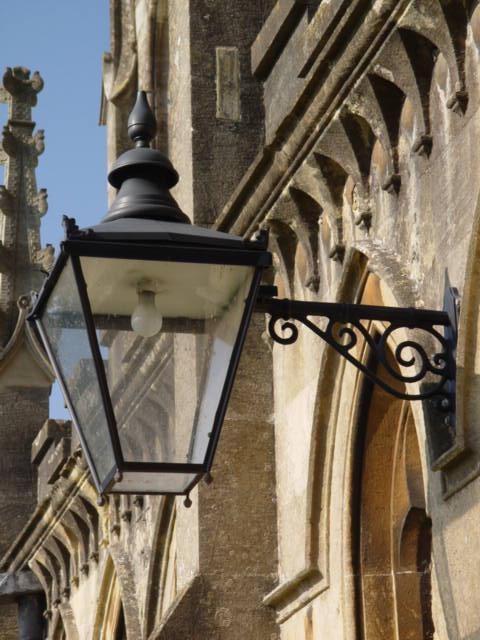Lamp at St Mary's Tetbury