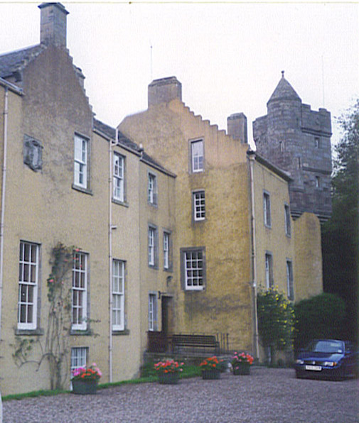 Southern facade of Myres Castle
