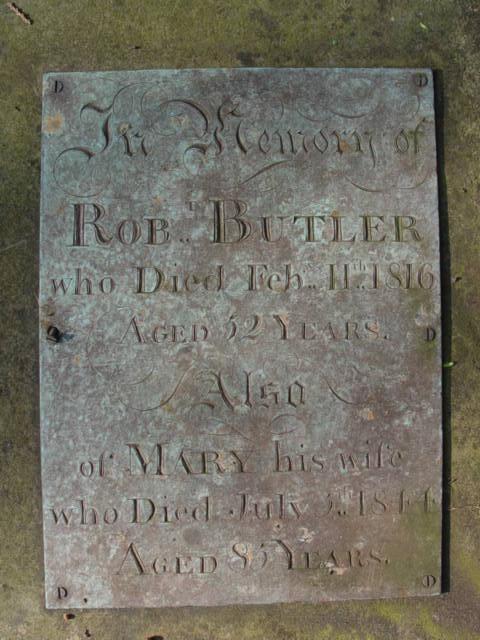Butler gravestone at St Mary's Tetbury.
