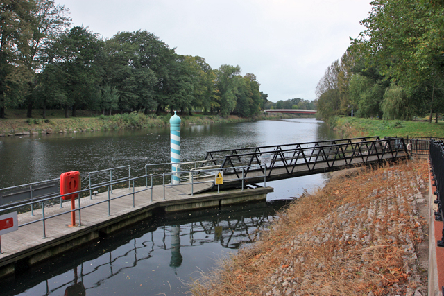 River Taff - Landing stage for the Aqua Bus