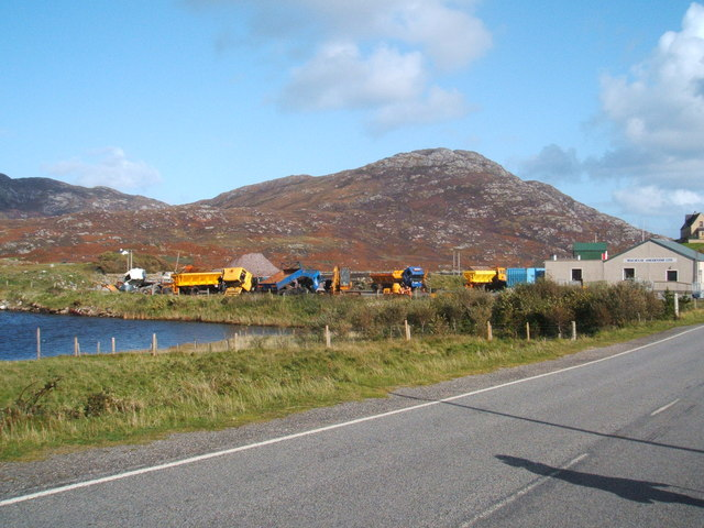 Gritting lorries at rest