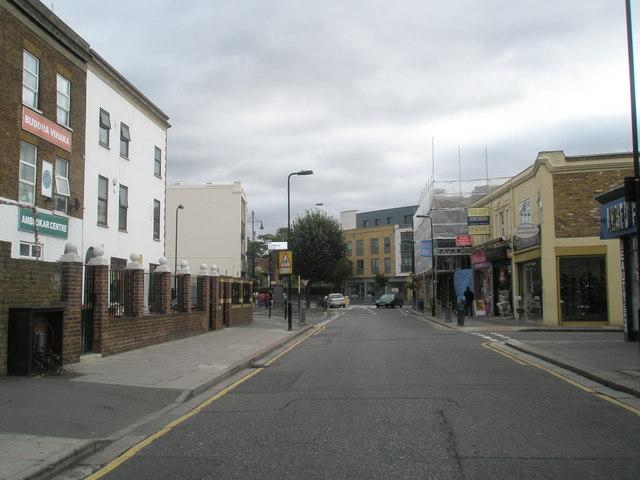 Looking eastwards along Featherstone Road