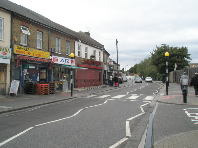Zebra crossing in Featherstone Road