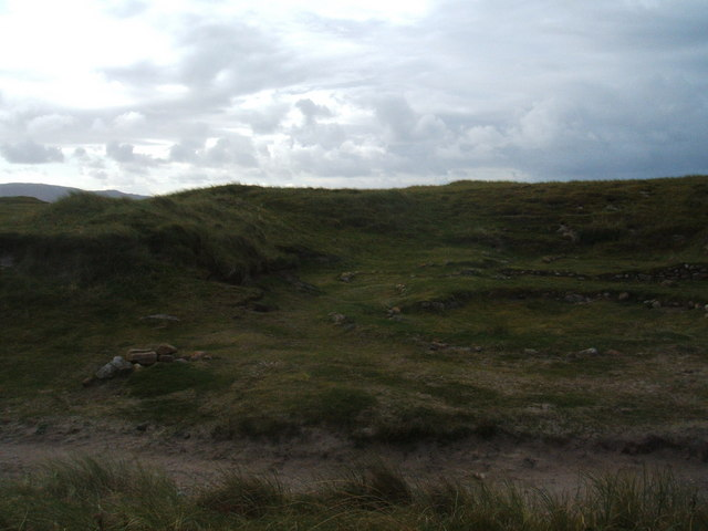 Stones marking site of Late Bronze Age Houses