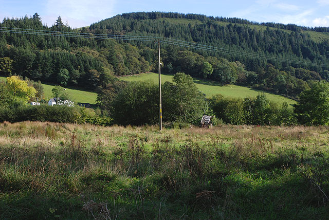 Open field at Dinas Mawddwy