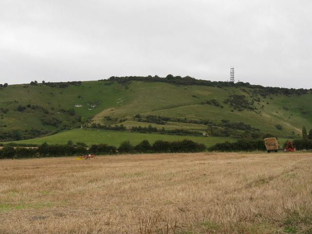 Stubble field on Truleigh Manor Farm