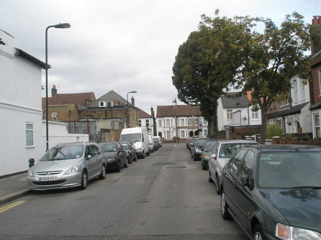 Looking northwards up Sussex Road towards Dudley Road