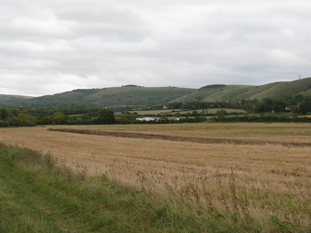 Field view towards the South Downs
