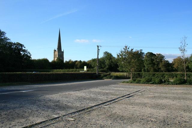Empty car park in Burford